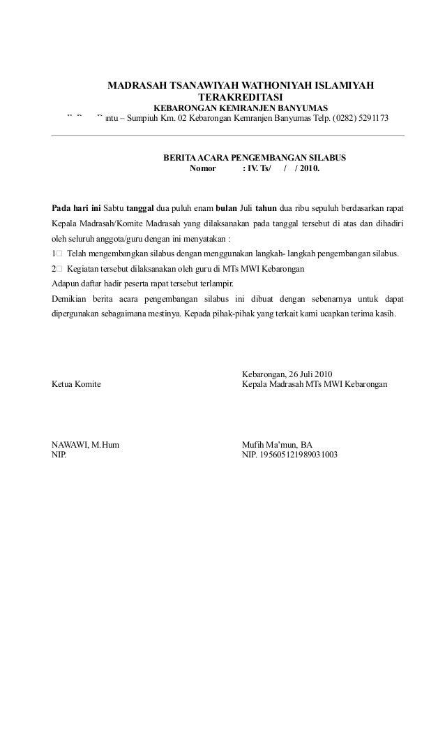 MADRASAH TSANAWIYAH WATHONIYAH ISLAMIYAH TERAKREDITASI KEBARONGAN KEMRANJEN BANYUMAS Jl. Raya Buntu – Sumpiuh Km. 02 Kebar...