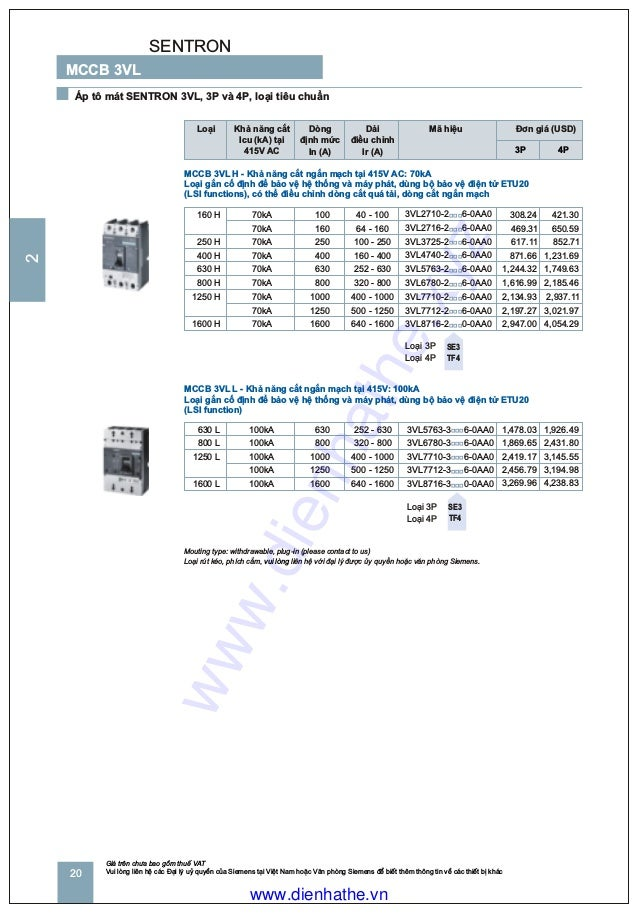 Not used price list 2010 part 2_mccb acb pac