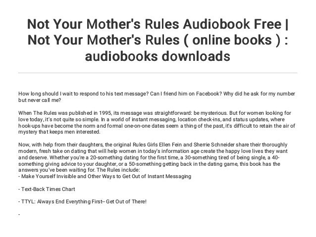 Not Your Mother's Rules Audiobook Free | Not Your Mother's Rules ( on…