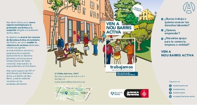 Nou Barris Activa es un nuevo espacio municipal para la promoción económica y la ocupación dirigido a la población de Nou ...
