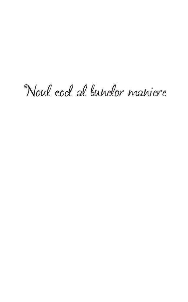 Codul Bunelor Maniere Astazi Pdf
