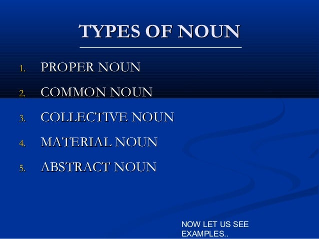 Presentation On Noun