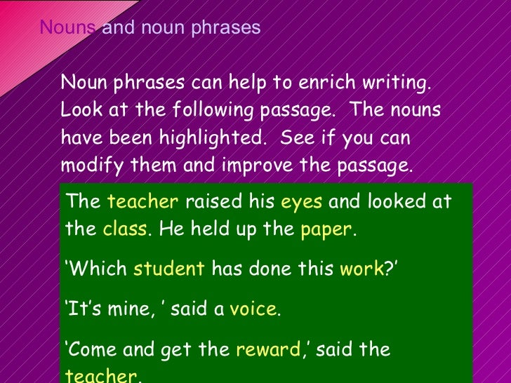 noun presentation