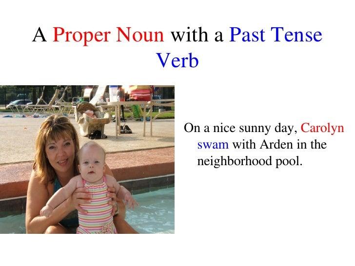Noun and Verb Sentences Slide 3