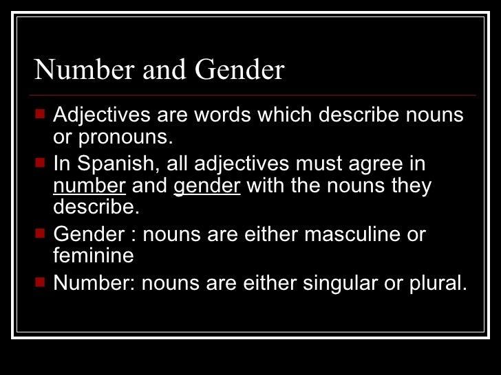 Noun Adjective Agreement Copy