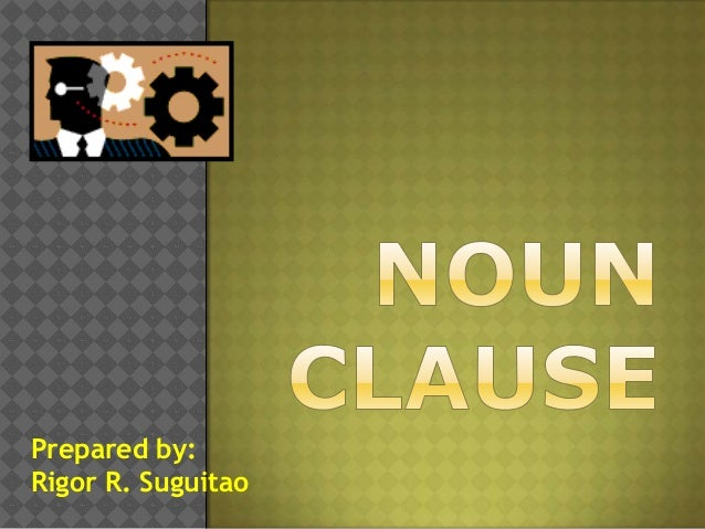 Noun clause functions
