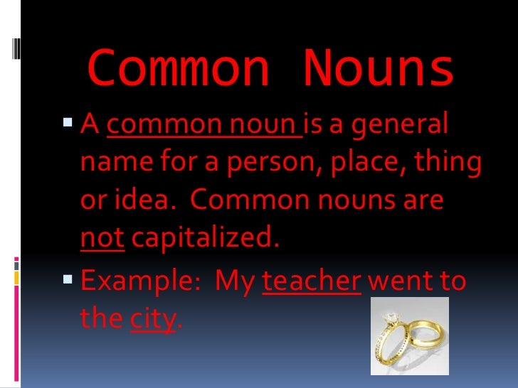COMMON NOUN DEFINITION PDF