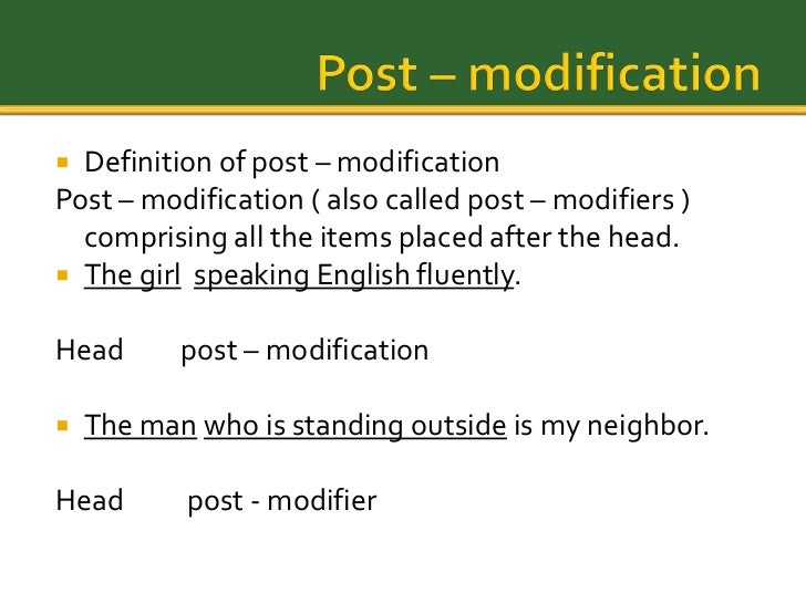 define modifier in grammar