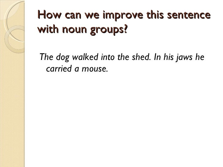 A sentence carried out 9