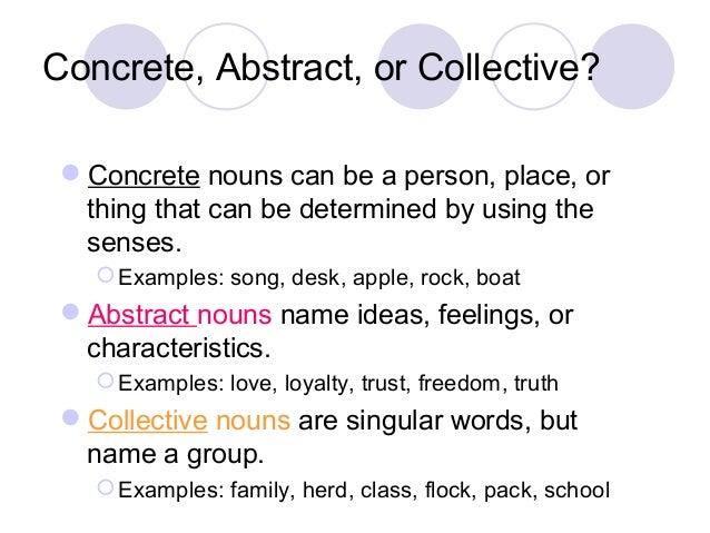 concrete words examples