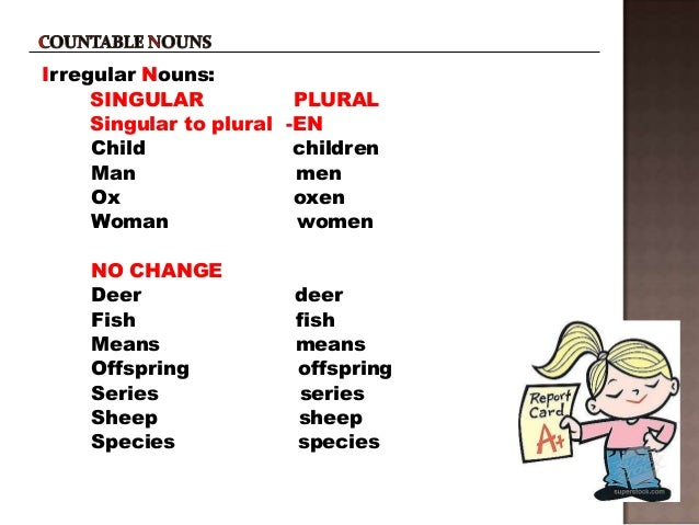 Nouns countable and uncountable 2 to use for Plural of fish