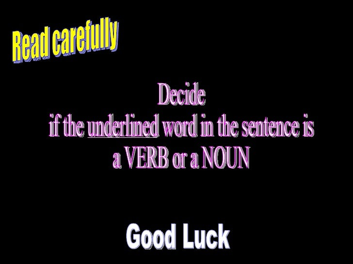Noun verb Slide 2