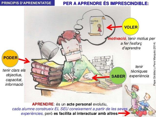 PepeGiráldezyPereMarquès(2014) SABER PODER VOLER APRENDRE: és un acte personal evolutiu, cada alumne construeix EL SEU con...