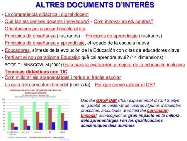 ALTRES DOCUMENTS D'INTERÈS - La competència didàctica i digital docent - Què fan els centres docents innovadors? - Com inn...