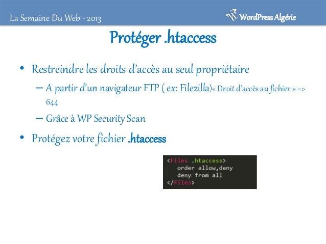 WordPress Algérie  Masquez votre version !! Mais pourquoi ?