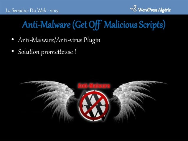 WordPress Algérie  La Semaine Du Web - 2013  Theme check • Utilitaire simple et efficace pour analyser votre thème • Un tr...