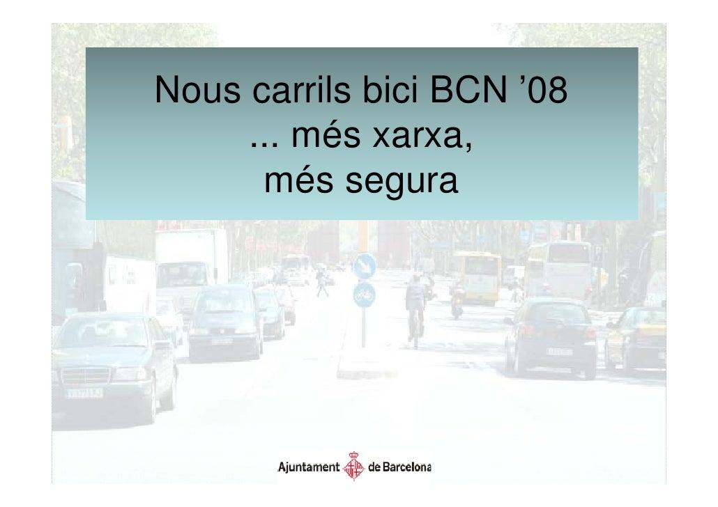 Proyecto carriles bici Barcelona