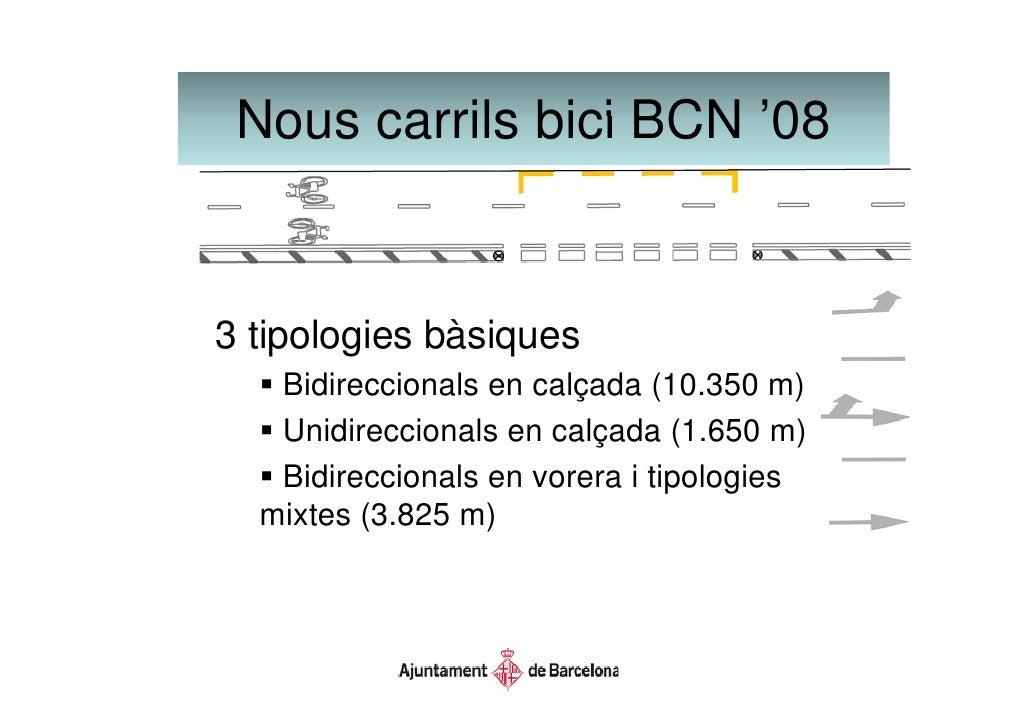 Nous carrils bici BCN '08                        08                  Uni - calçada  Bi - calçada                       Bi ...
