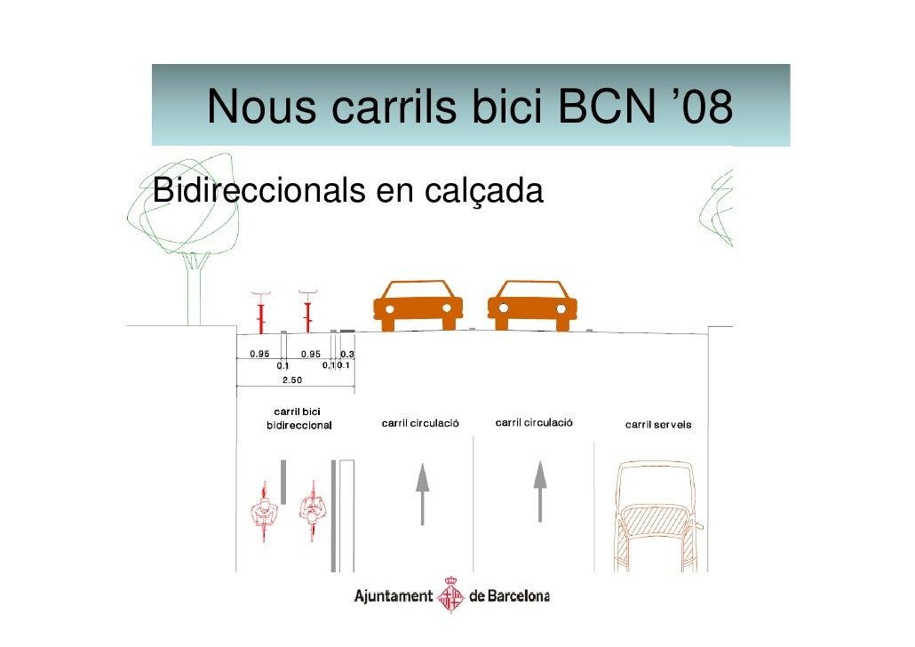 Nous carrils bici BCN '08                           08           Elements de separació   Peça de separació en carrils bidi...