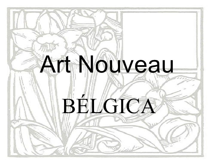 Art Nouveau   BÉLGICA