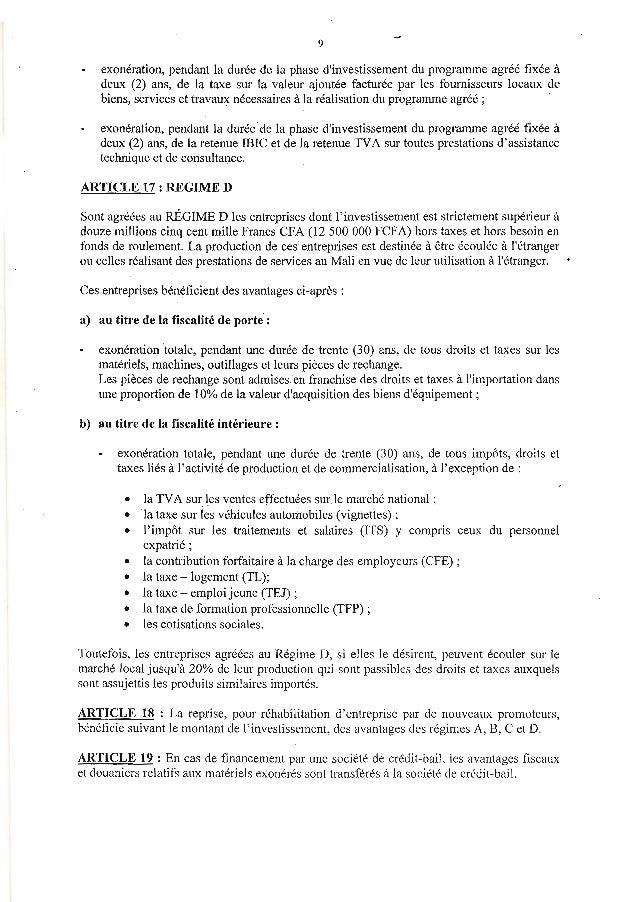 9exonération, pendant la durée de la phase dinvestissement du progranune agréé fixée àdeux (2) ans, de la taxe sur la vale...