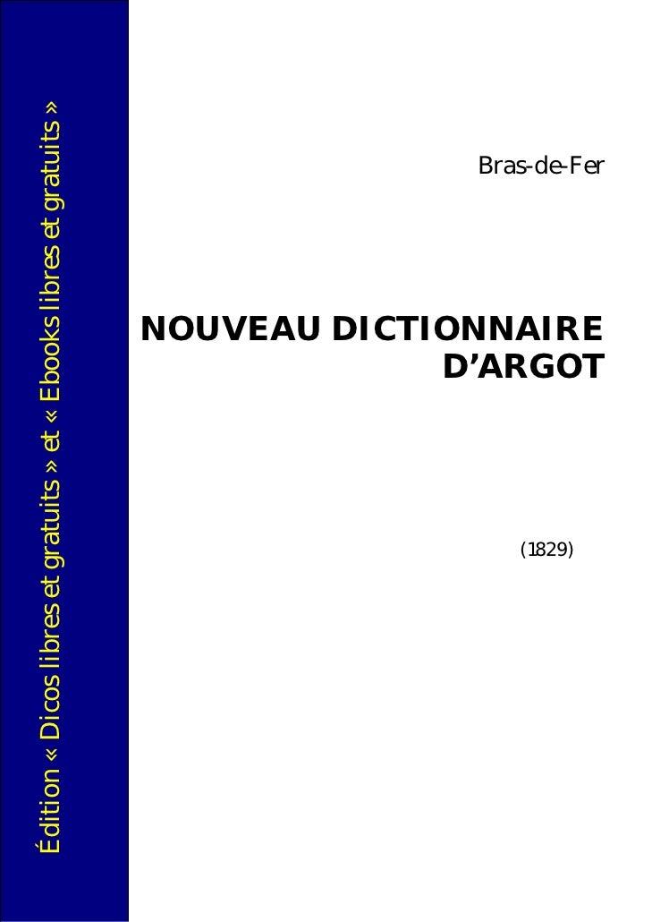 Édition « Dicos libres et gratuits » et « Ebooks libres et gratuits »                           (1829)                    ...