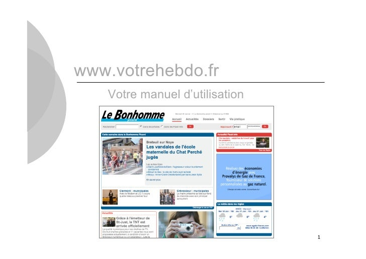www.votrehebdo.fr    Votre manuel d'utilisation                                     1