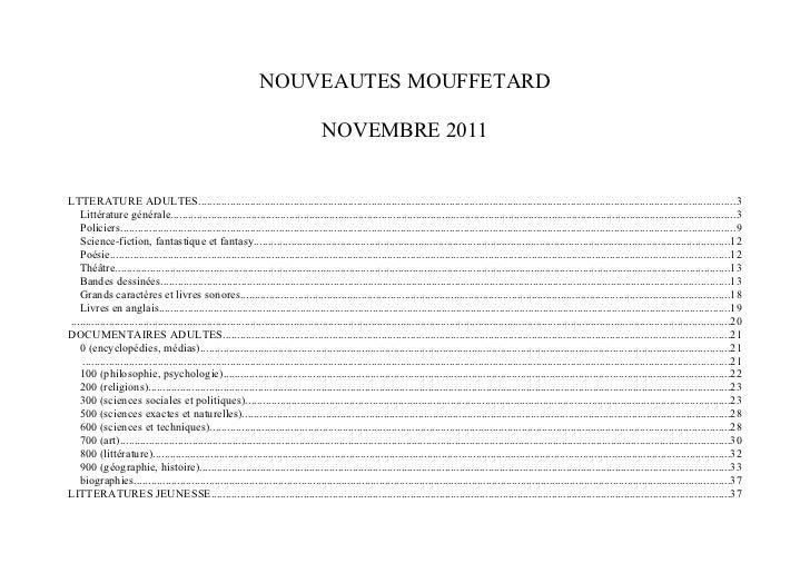 Nouveautes mouffetard nov_2011