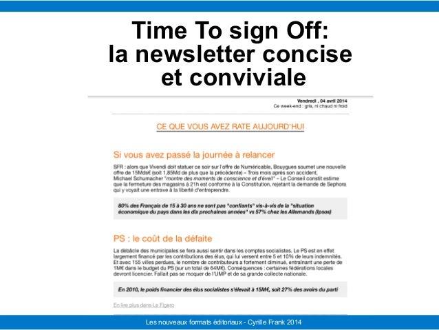 Le Télégramme Les nouvelles facettes du journalisme IFRA - 2008-2009Les nouveaux formats éditoriaux - Cyrille Frank 2014 T...