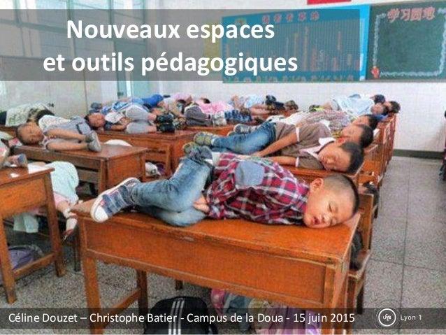 Nouveaux espaces et outils pédagogiques Céline Douzet – Christophe Batier - Campus de la Doua - 15 juin 2015