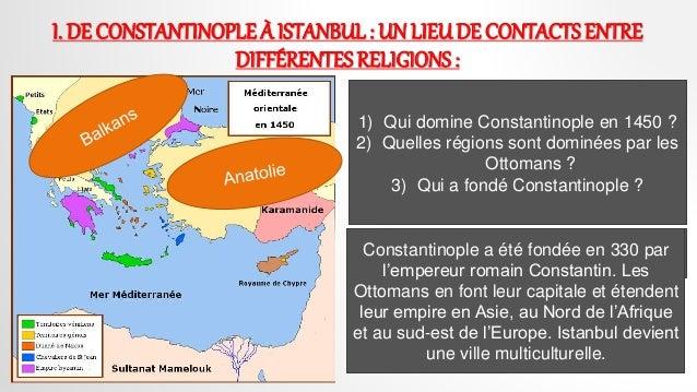 constantinople lieu de contacts entre differentes cultures et religions