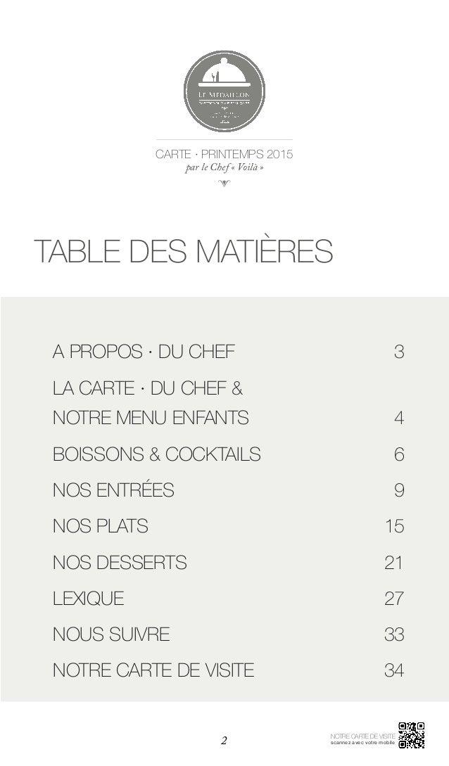 Mailleur Dessert Carte De Restaurant