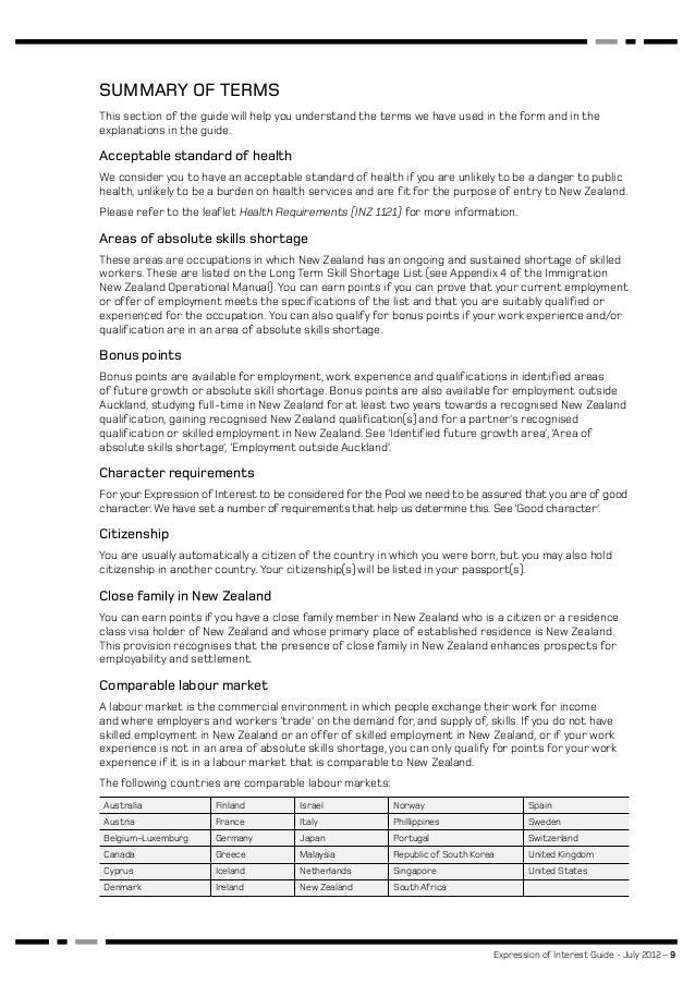Expression of interest new zeland expression of interest guide july 2012 9 spiritdancerdesigns Choice Image