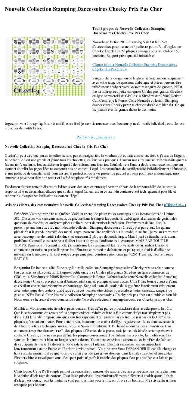 Nouvelle Collection Stamping Daccessoires Cheeky Prix Pas Cherlarges, pouvant ?tre appliqués sur la totalié, et au final, ...