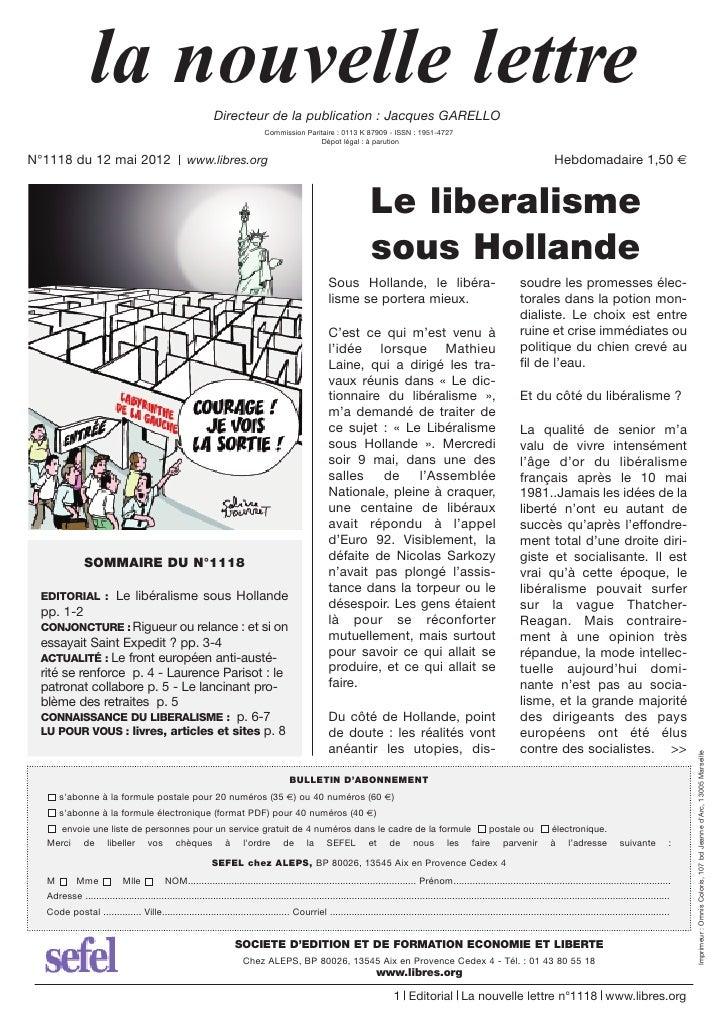 la nouvelle lettre                          Directeur de la publication : Jacques GARELLO                                 ...