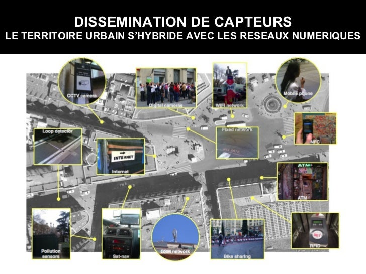 DISSEMINATION DE CAPTEURS LE TERRITOIRE URBAIN S'HYBRIDE AVEC LES RESEAUX NUMERIQUES