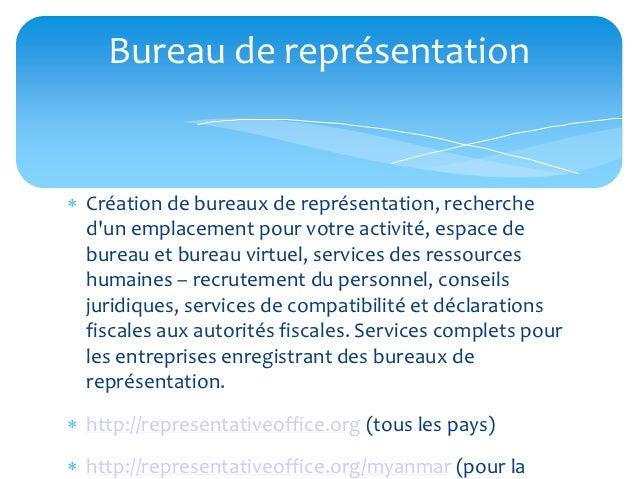 Bureau de représentation Création de bureaux de représentation, recherche  dun emplacement pour votre activité, espace de...