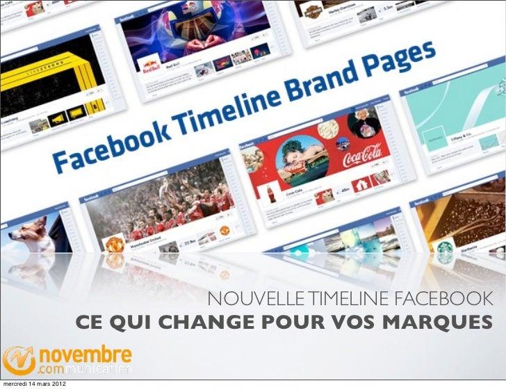 NOUVELLE TIMELINE FACEBOOK                        CE QUI CHANGE POUR VOS MARQUESmercredi 14 mars 2012