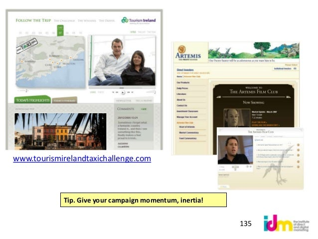 Example of an integratedsocial media campaign