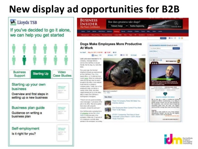 New display ad opportunities for B2B