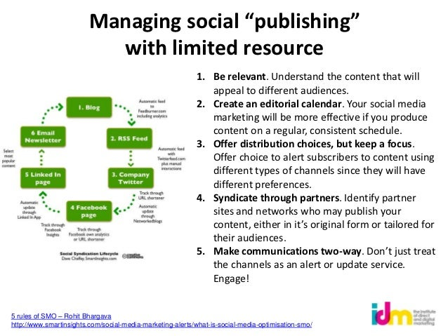 """Managing social """"publishing""""                           with limited resource                                              ..."""