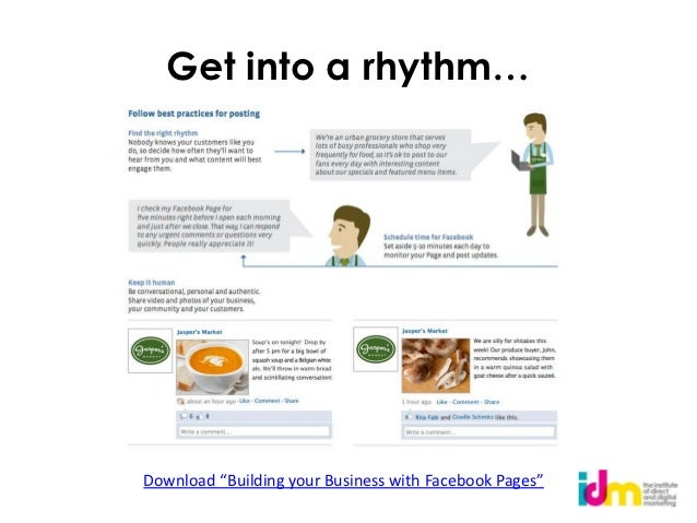 """Get into a rhythm…Download """"Building your Business with Facebook Pages"""""""