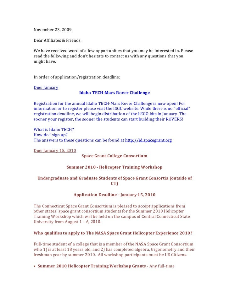 November  23,  2009      Dear  Affiliates  &  Friends,      We  have  received  word  of  a  ...
