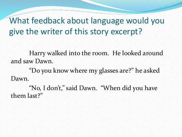 use of language in writing
