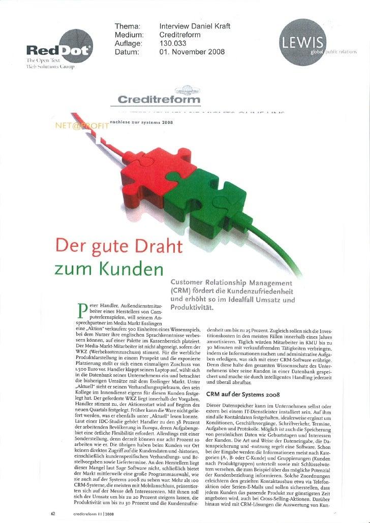 Nov 08 - Customer Care With 2.0 (Handelblatt Creditforum)
