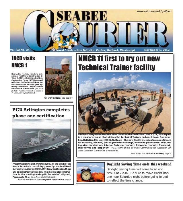www.cnic.navy.mil/gulfportVol. 52 No. 24                                        Naval Construction Battalion Center, Gulfp...