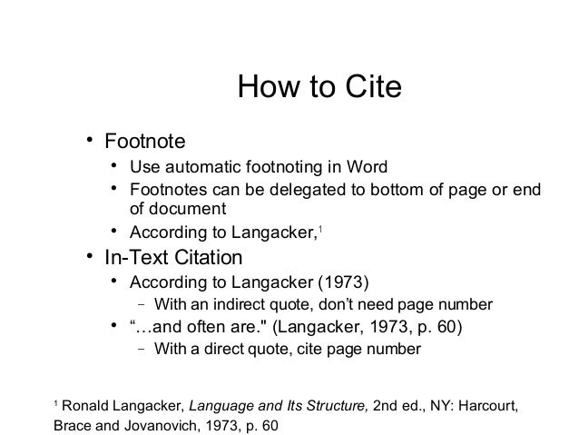MLA Footnotes. How to Write Footnotes and Endnotes in MLA Style