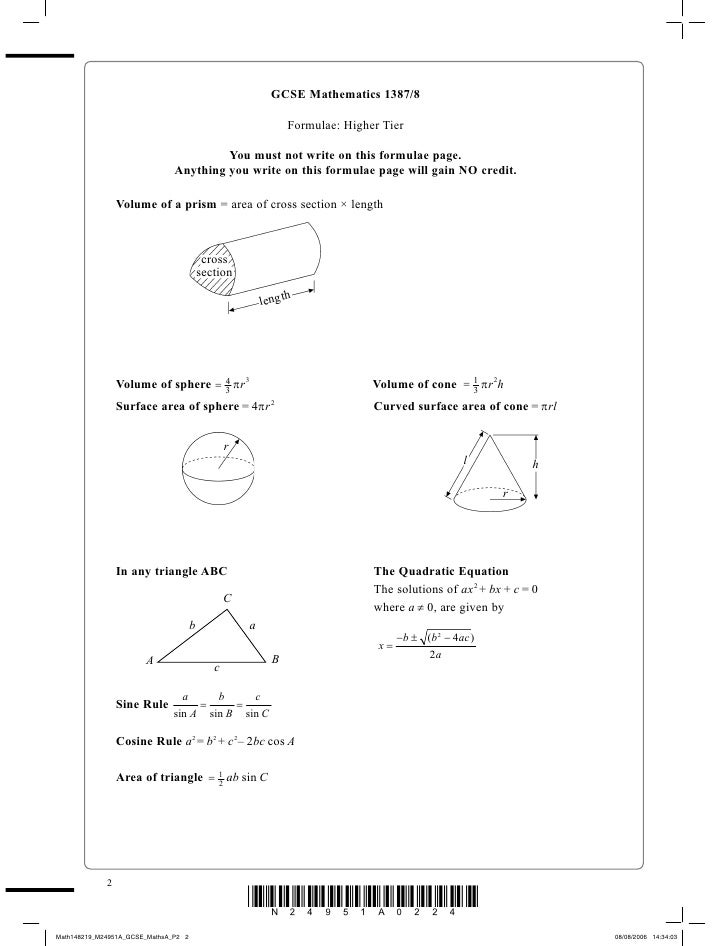 edexcel gcse mathematics a- 1387 paper 3 non-calculator intermediate tier Edexcel gcse mathematics a 1387 paper 5523/03 june 2007 mark scheme mathematics a 1387 edexcel gcse  notes on marking principles  3 no working if no working is .