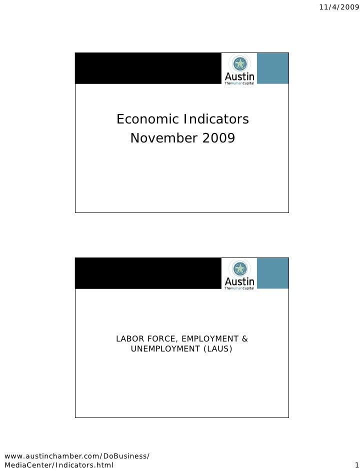 11/4/2009                              Economic Indicators                            November 2009                       ...