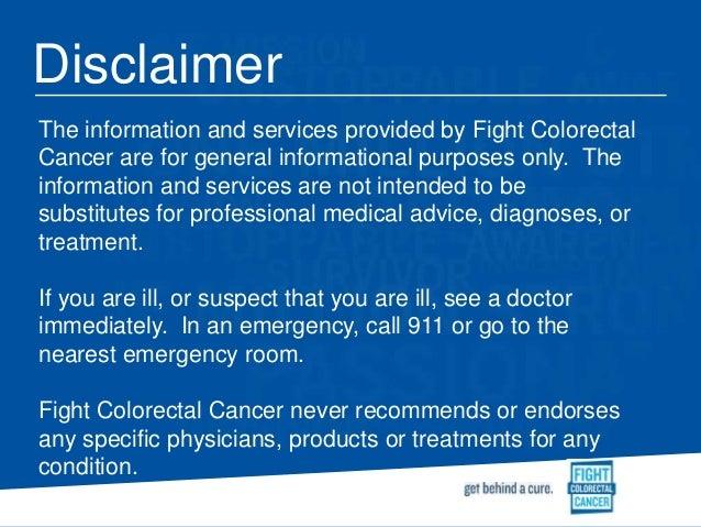 Nov 2014 webinar complementary alternative medicine for Legal advice disclaimer template